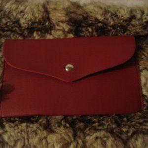 NWT Burgundy leather envelope wallet